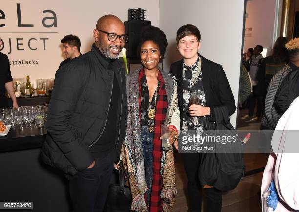 Lewis Long April Hunt and Cathy Massara attend HBO's The HeLa Project Exhibit For The Immortal Life of Henrietta Lacks on April 6 2017 in New York...