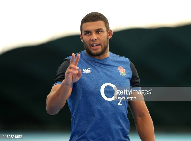 Lewis Ludlam looks on during the England gym session held at Clifton College Sports Ground on July 15 2019 in Bristol England