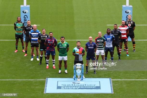 Lewis Ludlam of Northampton Saints, Henry Slade of Exeter Chiefs, Sam Underhill of Bath Rugby, Alex Goode of Saracens, Charles Piutau of Bristol...