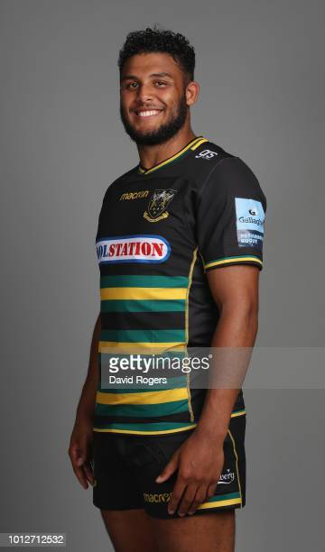 Lewis Ludlam poses during the Northampton Saints squad photo call for the 201819 Gallagher Premiership Rugby season on August 6 2018 in Northampton...