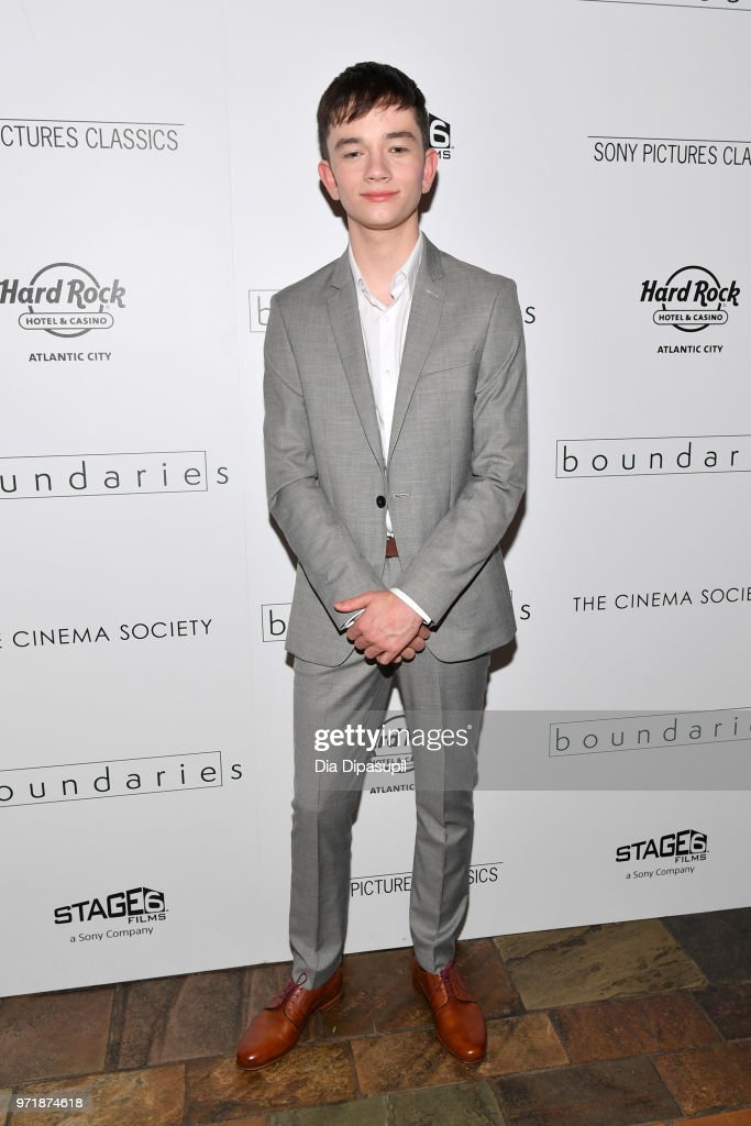 Lewis MacDougall attends the 'Boundaries' New York screening at The Roxy Cinema on June 11, 2018 in New York City.