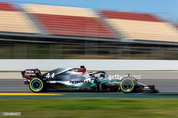 Lewis , Mercedes AMG Petronas F1 W11, action during the Formula 1 Winter Tests at Circuit de Barcelona - Catalunya on February 28, 2020 in Barcelona,...