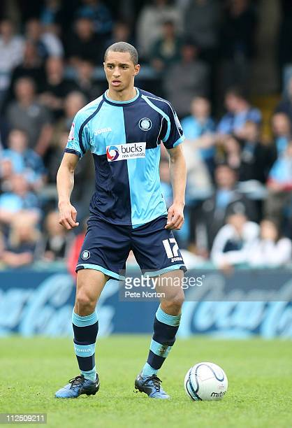 Lewis Montrose of Wycombe Wanderers in action during the npower League Two League match between Wycombe Wanderers and Northampton Town at Adams Parks...