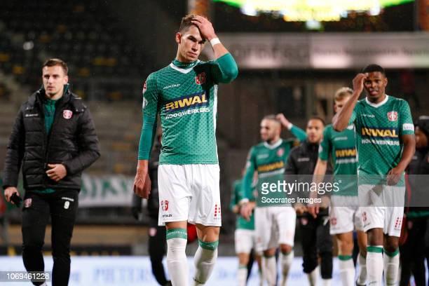 Lewis Montsma of FC Dordrecht during the Dutch Keuken Kampioen Divisie match between Roda JC v FC Dordrecht at the Parkstad Limburg Stadium on...