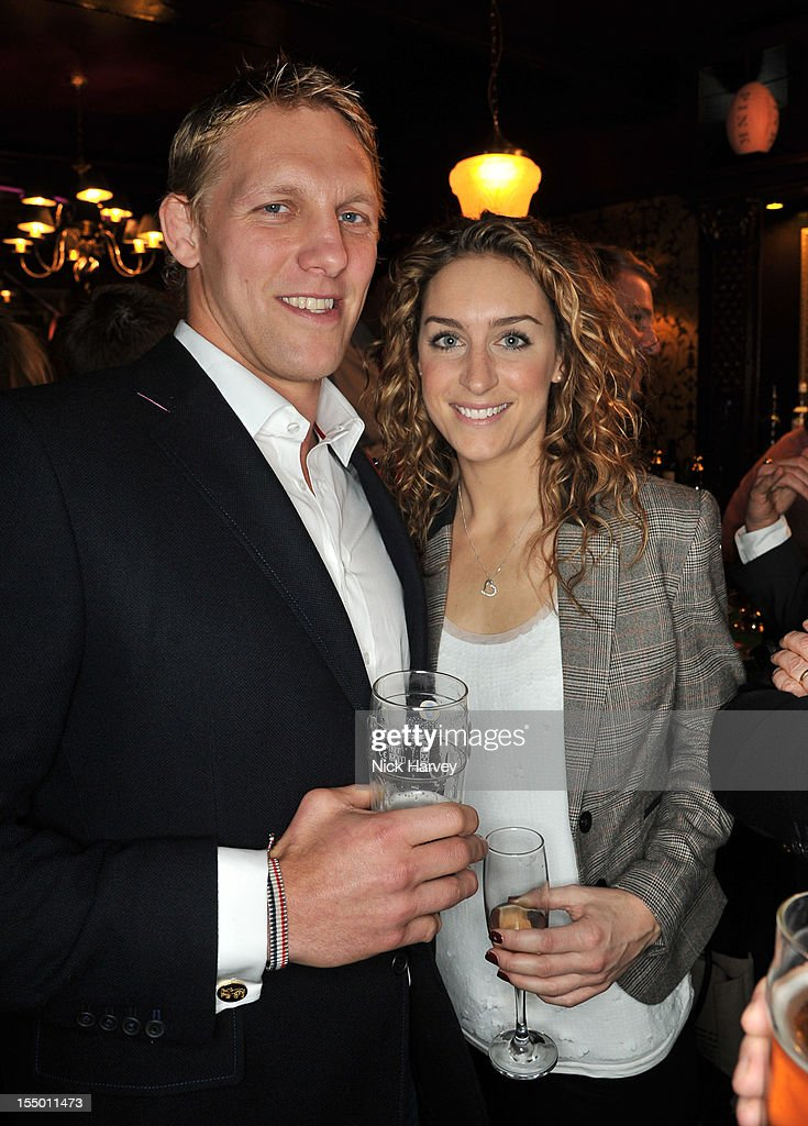 Lewis Moody and Amy Williams attend the Thomas Pink Presents The Pink Lion launch event on October 30, 2012 in London, England.