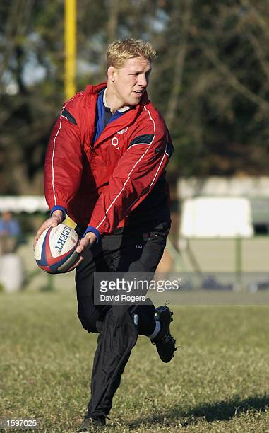 Lewis Moody of England during an England training session held on June 13 2002 in Buenos Aires Argentina DIGITAL IMAGE