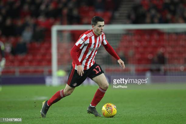 Lewis Morgan during the Sky Bet League 1 match between Sunderland and Blackpool at the Stadium Of Light, Sunderland on Tuesday 12th February 2019.