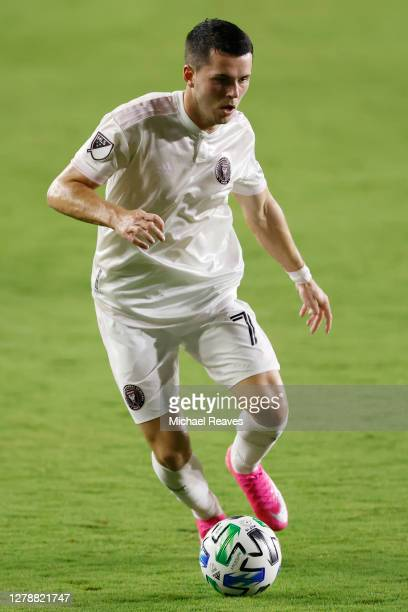 Lewis Morgan of Inter Miami CF in action against New York City FC at Inter Miami CF Stadium on October 03, 2020 in Fort Lauderdale, Florida.