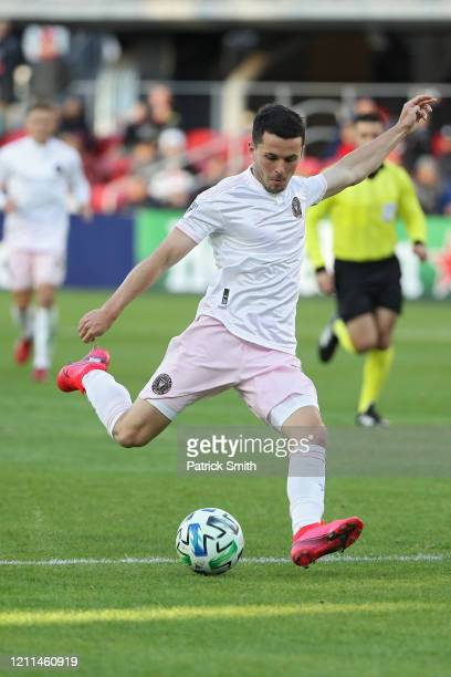 Lewis Morgan of Inter Miami dribbles the ball against the D.C. United during the second half at Audi Field on March 7, 2020 in Washington, DC.
