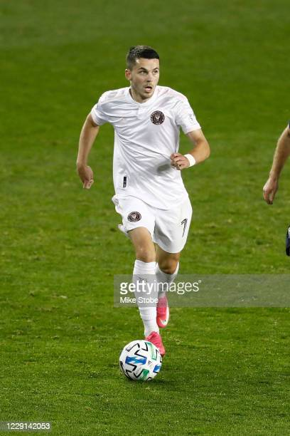 Lewis Morgan of Inter Miami in action against the Montreal Impact at Red Bull Arena on October 17, 2020 in Harrison, New Jersey. Montreal Impact...