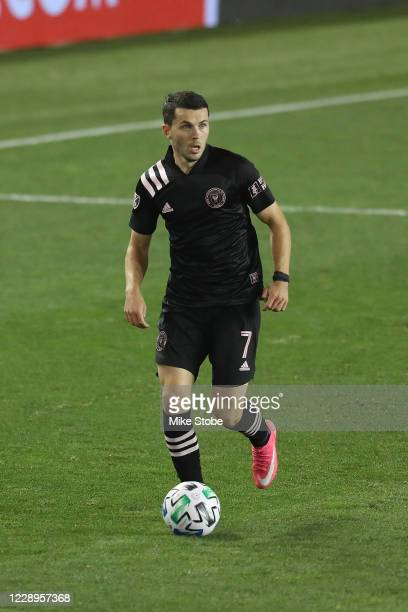 Lewis Morgan of Inter Miami in action against the New York Red Bulls at Red Bull Arena on October 07, 2020 in Harrison, New Jersey. Inter Miami...