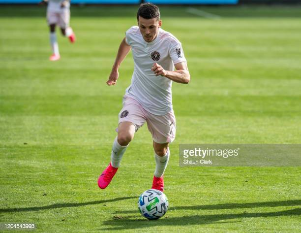 Lewis Morgan of Inter Miami in action during the MLS match against Los Angeles FC at the Banc of California Stadium on March 1, 2020 in Los Angeles,...