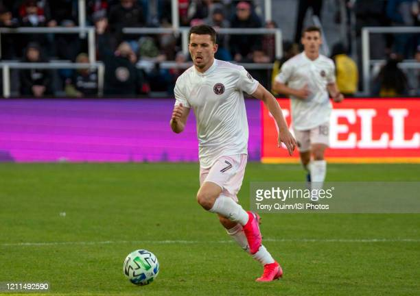 Lewis Morgan of Inter Miami on the attack during a game between Inter Miami CF and D.C. United at Audi Field on March 07, 2020 in Washington, DC.