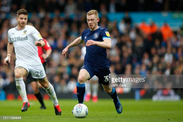 Lewis O'Brien of Huddersfield Town during the Sky Bet Championship match between Leeds United and Huddersfield Town at Elland Road on March 07 2020...