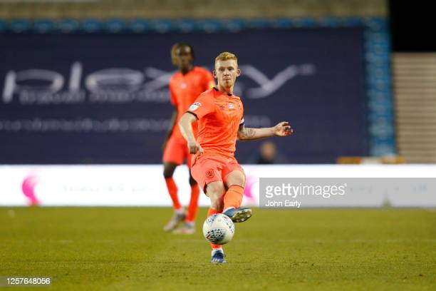 Lewis O'Brien of Huddersfield Town during the Sky Bet Championship match between Millwall and Huddersfield Town at The Den on July 22 2020 in London...