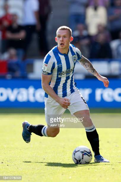 Lewis O'Brien of Huddersfield Town during the Sky Bet Championship match between Huddersfield Town and Nottingham Forest at Kirklees Stadium on...
