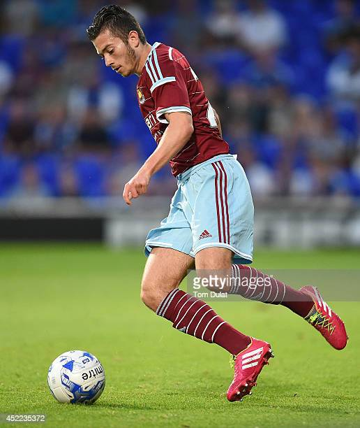 Lewis Page of West Ham United in action during the preseason friendly match between Ipswich Town and West Ham United at Portman Road on July 16 2014...