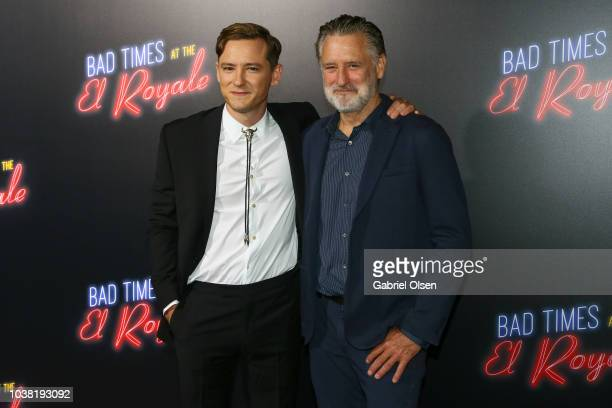 Lewis Pullman and Bill Pullman arrive to the premiere of 20th Century FOX's Bad Times At The El Royale at TCL Chinese Theatre on September 22 2018 in...