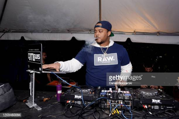 T Lewis spins during Lil Wayne's Funeral album release party on February 01 2020 in Miami Florida
