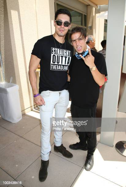 Lewis Tan and Aramis Knight of 'Into the Badlands' attend the 2018 WIRED Cafe at Comic Con presented by ATT Audience Network at Omni Hotel on July 21...