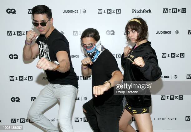 Lewis Tan Aramis Knight and Ally Ioannides of 'Into the Badlands' attend the 2018 WIRED Cafe at Comic Con presented by ATT Audience Network at Omni...
