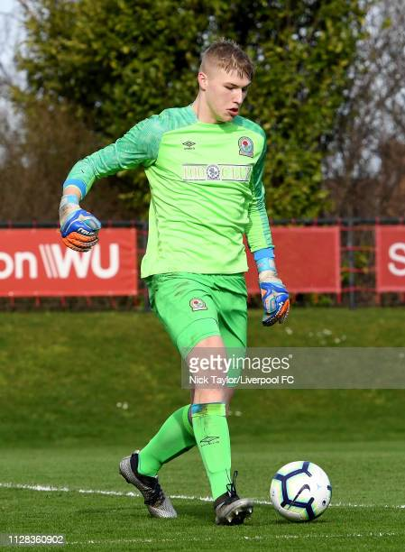 Lewis Thomas of Blackburn Rovers in action during the U18 Premier League game at The Kirkby Academy on March 2 2019 in Kirkby England