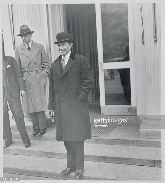 Lewis W Douglas new Director of the Budget leaves the White House after a conference with President Roosevelt