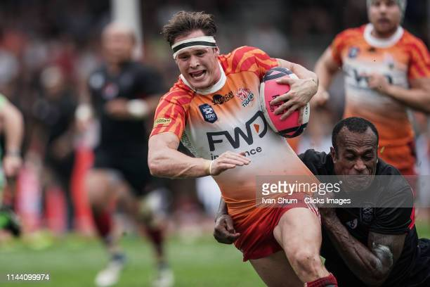 Lewis Warner of South China Tigers in action during the Global Rapid Rugby match between the South China Tigers and Asia Pacific Dragons at Aberdeen...