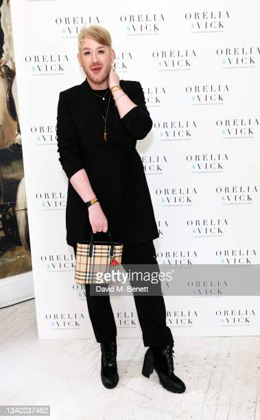 Lewis-Duncan Weedon attends the Orelia & Vick Hope jewellery launch on September 14, 2021 in London, England.