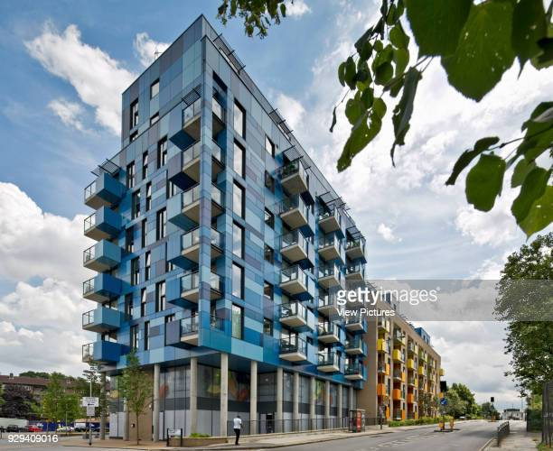 Lewisham Road elevation Central Park Apartments Lewisham London United Kingdom Architect bptw partnership 2014