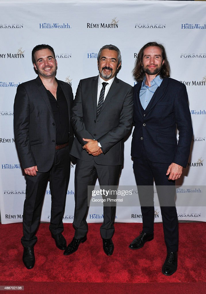 Lex Cassar, Jon Cassar and Aaron Poole attends 'Forsaken' TIFF party hosted by Remy Martin and Holliswealth during the 2015 Toronto International Film Festival at Weslodge on September 16, 2015 in Toronto, Canada.