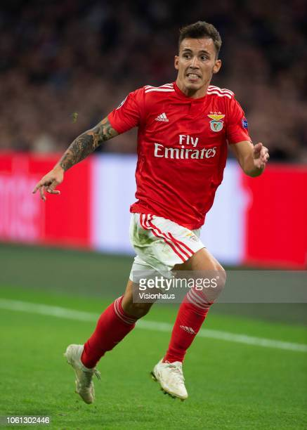 Álex Grimaldo of Benfica during the UEFA Champions League Group E match between AFC Ajax v SL Benfica at the Johan Cruff ArenA on October 23 2018 in...