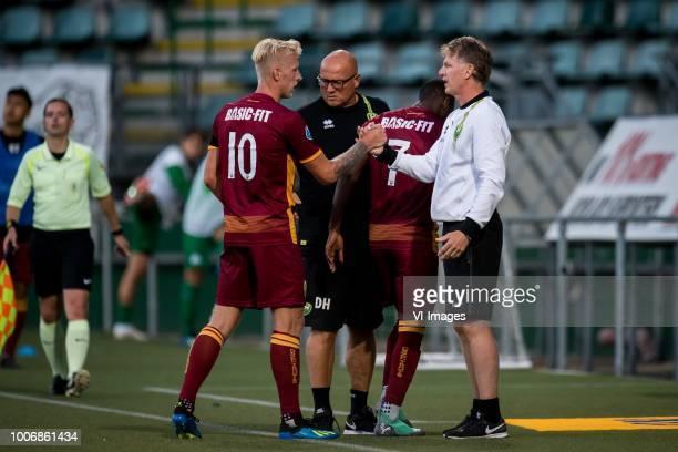 Lex Immers of ADO Den Haag coach Alfons Fons Groenendijk of ADO Den Haag during the Preseason Friendly match between ADO Den Haag and Panathinaikos...