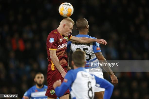 Lex Immers of ADO Den Haag Delano Burgzorg of De Graafschap during the Dutch Eredivisie match between De Graafschap Doetinchem and ADO Den Haag at De...