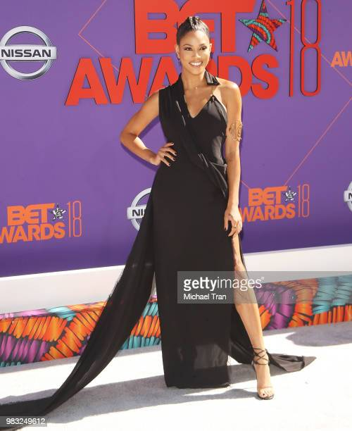 Lex Scott Davis arrives to the 2018 BET Awards held at Microsoft Theater on June 24 2018 in Los Angeles California