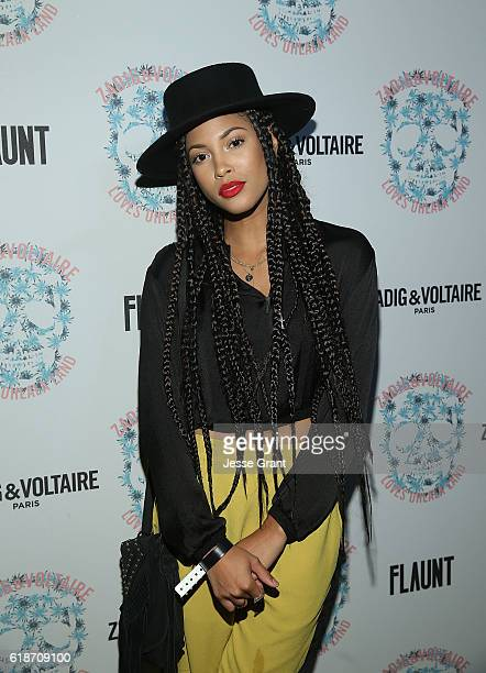 Lex Scott Davis attends the Zadig Voltaire and Flaunt Celebration of The FW16 Collection and The Oh La La Land Issue Ouest Coast at Zadig Voltaire on...