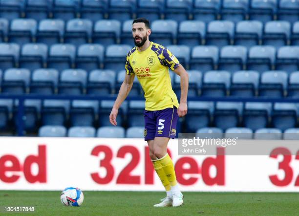 Álex Vallejo of Huddersfield Town during the Sky Bet Championship match between Preston North End and Huddersfield Town at Deepdale on February 27,...