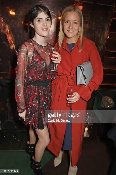 Lexi Abrams and Hermione Espie Underwood attend the launch of Champagne Armand de Brignac Blanc de Blancs en Magnum at Casa Cruz on March 13 2018 in...