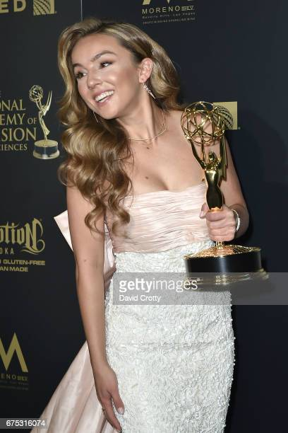 Lexi Ainsworth attends the 44th Annual Daytime Emmy Awards Press Room at Pasadena Civic Auditorium on April 30 2017 in Pasadena California