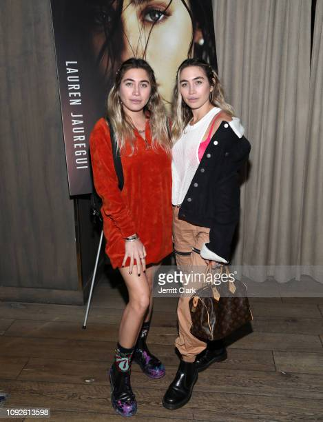 Lexi and Allie Kaplan attend the Ladygunn Cover Launch Event Hosted By Lauren Juargeui At The Mondrian Hotel's Ivory on Sunset on January 10 2019 in...