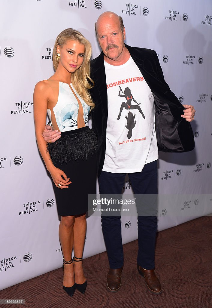 Lexi Atkins and Rex Linn attend the 'Zombeavers' Premiere during the 2014 Tribeca Film Festival at Chelsea Bow Tie Cinemas on April 19, 2014 in New York City.