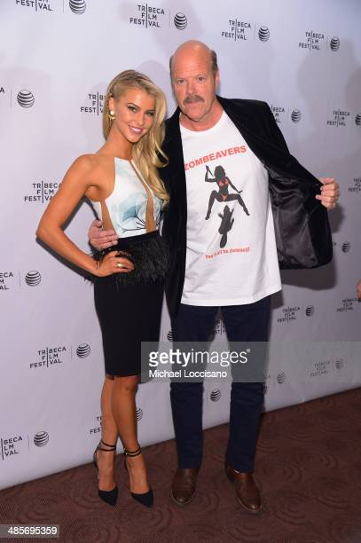Lexi Atkins and Rex Linn attend the 'Zombeavers' Premiere during the 2014 Tribeca Film Festival at Chelsea Bow Tie Cinemas on April 19 2014 in New...
