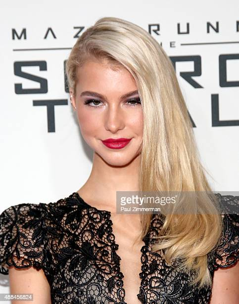 Lexi Atkins attends Maze Runner The Scorch Trials New York Premiere at Regal EWalk on September 15 2015 in New York City