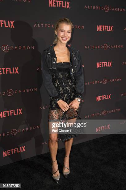 Lexi Atkins attends the Premiere Of Netflix's 'Altered Carbon' at Mack Sennett Studios on February 1 2018 in Los Angeles California