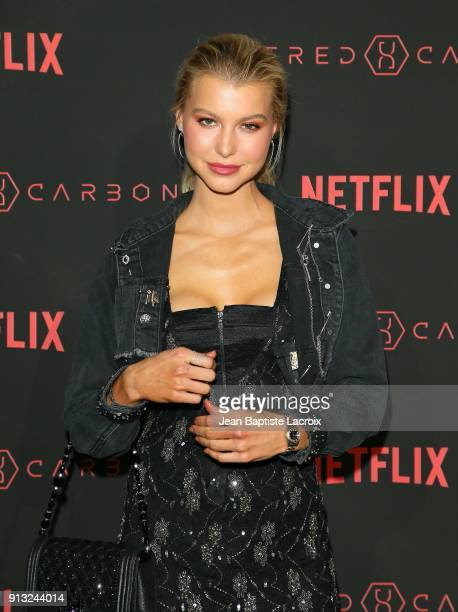 Lexi Atkins attends the World Premiere of the Netflix Original Series 'Altered Carbon' on February 1 2018 in Los Angeles California