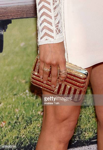 Lexi Atkins handbag detail attends the 'Ted 2' New York premiere at Ziegfeld Theater on June 24 2015 in New York City