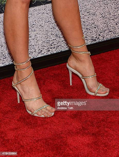 Lexi Atkins shoe detail attends the 'Ted 2' New York premiere at Ziegfeld Theater on June 24 2015 in New York City