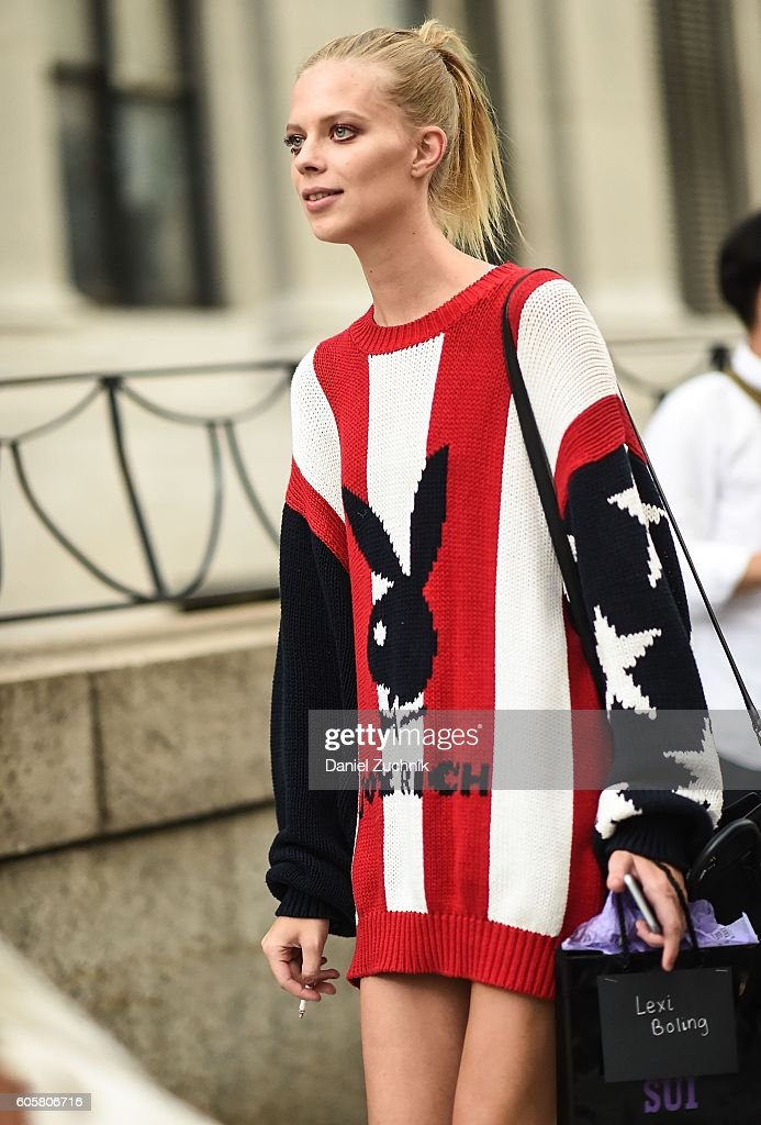 Lexi Boling is seen outside the Anna Sui show during New York Fashion Week Spring 2017 on September 14, 2016 in New York City.