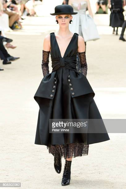 Lexi Boling walks the runway during the Chanel Haute Couture Fall/Winter 20172018 show as part of Haute Couture Paris Fashion Week on July 4 2017 in...
