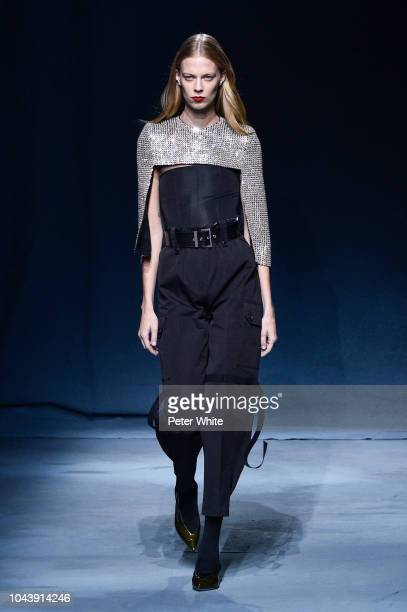 Lexi Boling walks the runway during the Givenchy show as part of the Paris Fashion Week Womenswear Spring/Summer 2019 on September 30 2018 in Paris...